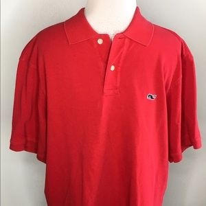 Red Vineyard Vines Polo
